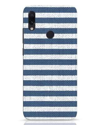 Shop Nautical Stripes Xiaomi Redmi Note 7 Pro Mobile Cover-Front