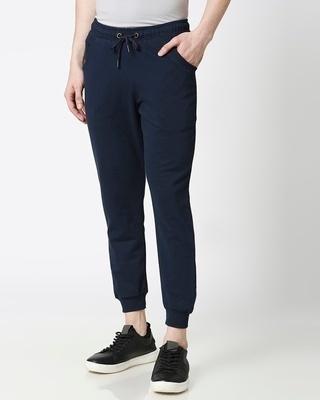 Shop Navy Blue Casual Jogger Pant-Front