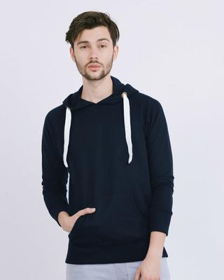 Shop Navy Blue Raglan Sweatshirt-Front