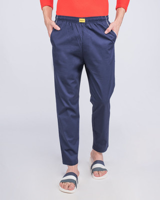 Shop Nebula Blue Plain Pyjama-Front