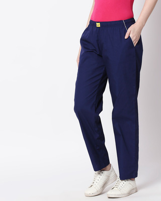 Shop Nebula Blue Plain Pyjama-Front