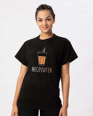 Shop Necessitea Boyfriend T-Shirt-Front