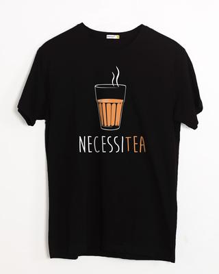 Shop Necessitea Half Sleeve T-Shirt-Front