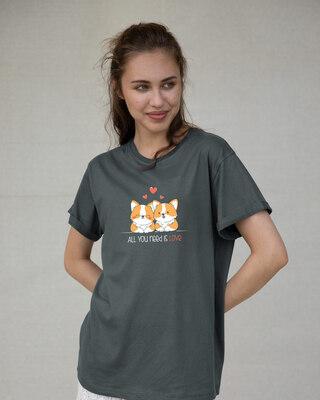 Shop Need Love Boyfriend T-Shirt-Front