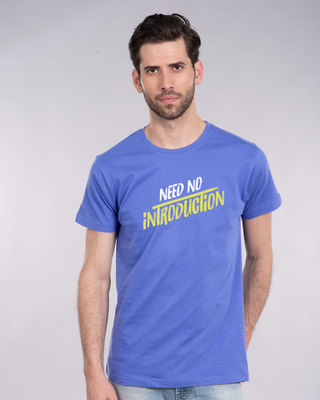 Shop Need No Introduction Half Sleeve T-Shirt-Front