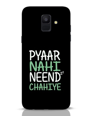 Shop Neend Chahiye Samsung Galaxy A6 2018 Mobile Cover-Front