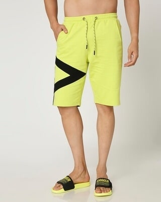 Shop Arcade Green Sports Trim Shorts-Front