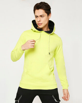 Shop Arcade Green Fleece Hoodie-Front