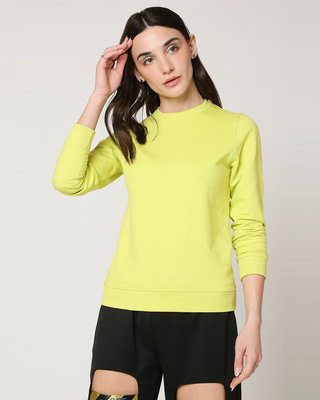 Shop Arcade Green Fleece Sweater-Front