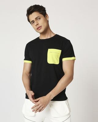 Shop Arcade Green Pocket Half Sleeve T-Shirt-Front