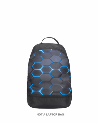 Shop Neon 3D Six-Sided Polygon Small Backpack-Front