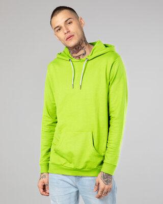 Shop Neon Green Fleece Hoodies-Front