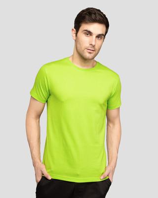 Shop Neon Green Half Sleeve T-Shirt-Front