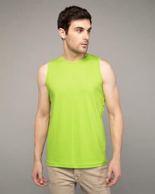 Shop Neon Green Vest-Front