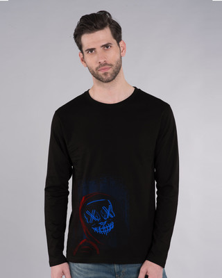 Shop Neon Mask Full Sleeve T-Shirt-Front