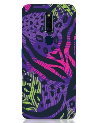 Shop Neon Tropical Oppo F11 Pro Mobile Cover-Front