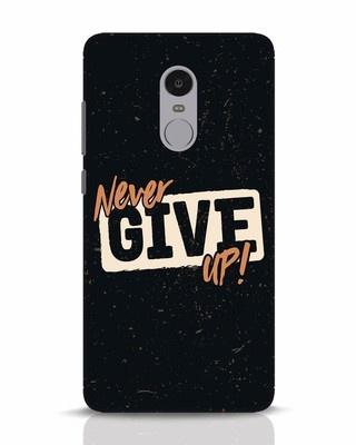Shop Never Give Up Xiaomi Redmi Note 4 Mobile Cover-Front