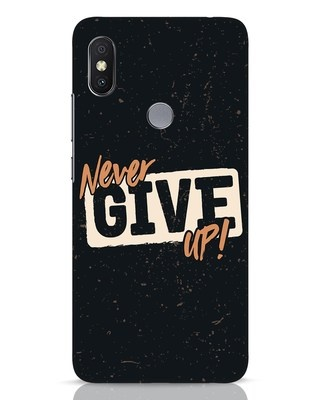 Shop Never Give Up Xiaomi Redmi Y2 Mobile Cover-Front