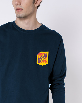 Shop Never Lose Hope Pocket Full Sleeve T-Shirt-Front