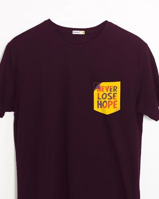 Shop Never Lose Hope Pocket Half Sleeve T-Shirt-Front