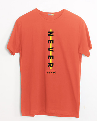 Shop Never Mind Stripe Half Sleeve T-Shirt Oxyfire-Front