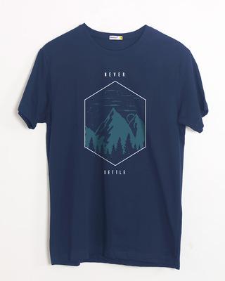 Shop Never Settle Half Sleeve T-Shirt-Front