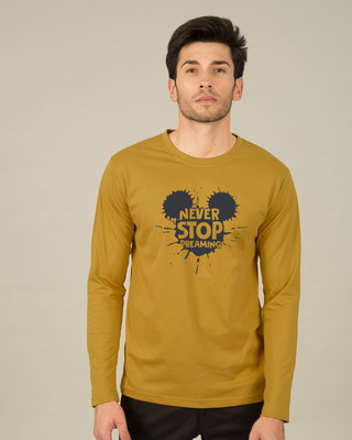 Shop Never Stop Dreaming Mickey Full Sleeve T-Shirt (DL)-Front