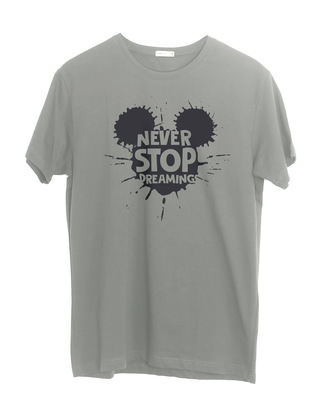 Shop Never Stop Dreaming Mickey Half Sleeve T-Shirt (DL)-Front