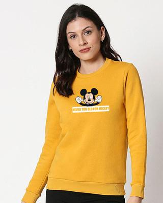 Shop Never Too Old For Mickey Fleece Sweatshirt (DL)-Front