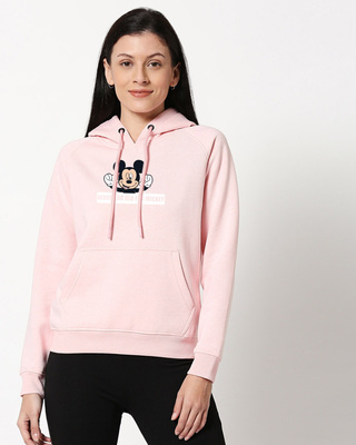 Shop Never Too Old For Mickey Melange Hoodie Sweatshirt-Front