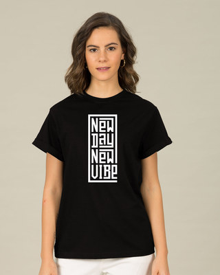 Shop New Day New Vibe Boyfriend T-Shirt-Front