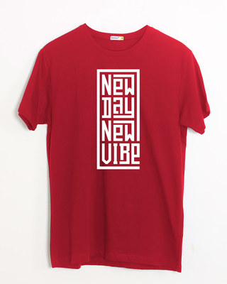 Shop New Day New Vibe Half Sleeve T-Shirt-Front
