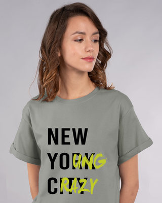Shop New Young Crazy Boyfriend T-Shirt-Front