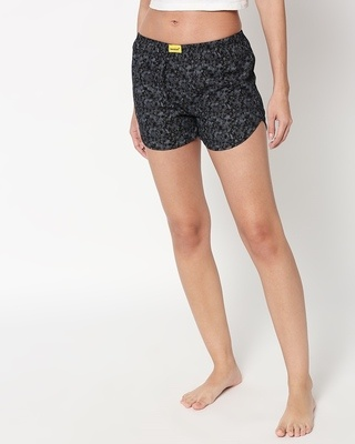 Shop Night Camo Women's Printed Boxers-Front