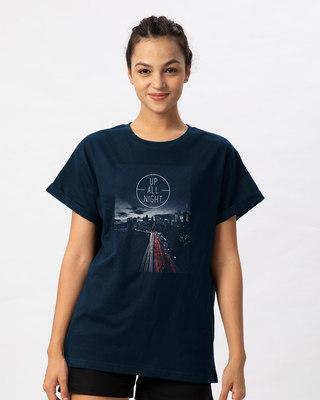 Shop Night City Boyfriend T-Shirt-Front
