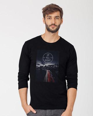 Shop Night City Full Sleeve T-Shirt-Front