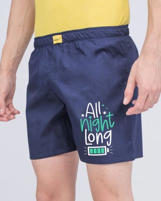 Shop Night Is Long Side Printed Boxer-Front