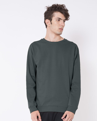 Shop Nimbus Grey Fleece Sweater-Front