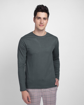Shop Nimbus Grey Full Sleeve T-Shirt-Front