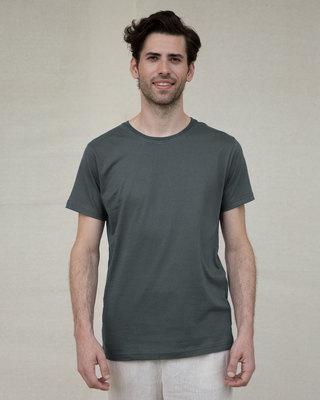 Shop Nimbus Grey Half Sleeve T-Shirt-Front