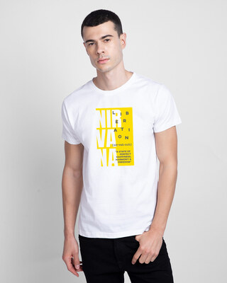 Shop Nir vah nuh Half Sleeve T-Shirt White-Front