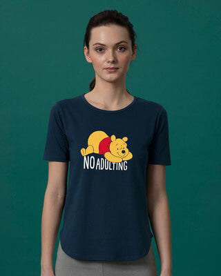 Shop No Adulting Basic Round Hem T-Shirt (DL)-Front
