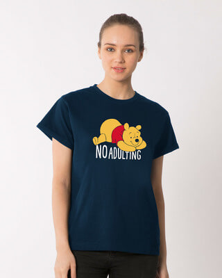 Shop No Adulting Boyfriend T-Shirt (DL)-Front