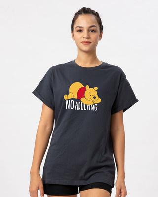Shop No Adulting Boyfriend T-Shirt (DL)-Front