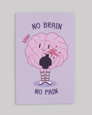 Shop No Brain Notebook-Front