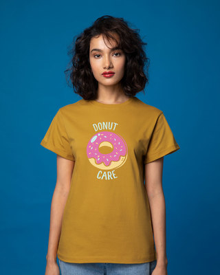 Shop No Care Boyfriend T-Shirt-Front