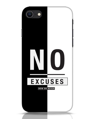 Shop No Excuses Stripe iPhone SE 2020 Mobile Cover-Front