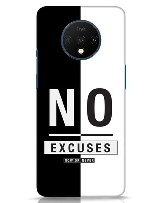 Shop No Excuses Stripe OnePlus 7T Mobile Cover-Front