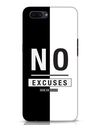 Shop No Excuses Stripe Oppo A3S Mobile Cover-Front