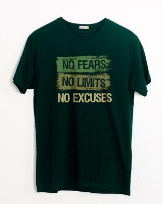 Buy No Fears No Excuses Half Sleeve T-Shirt Online India @ Bewakoof.com